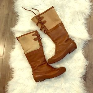Like-New UGG tall Sherpa lace up all-weather boot